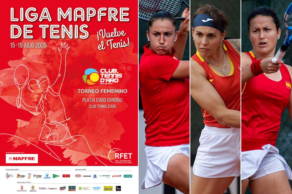 El primer torneo de la Liga MAPFRE de Tenis Femenina en Platja d'Aro contará con Sorribes, Bolsova y Arruabarrena