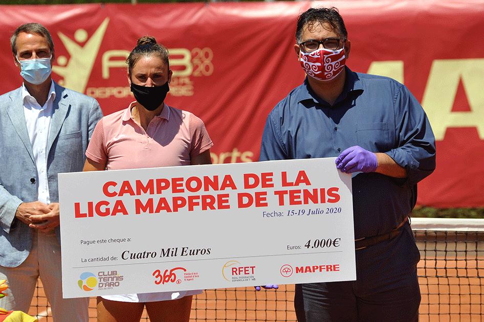Sara Sorribes conquista el primer torneo de la Liga MAPFRE de Tenis Femenina en Platja d'Aro