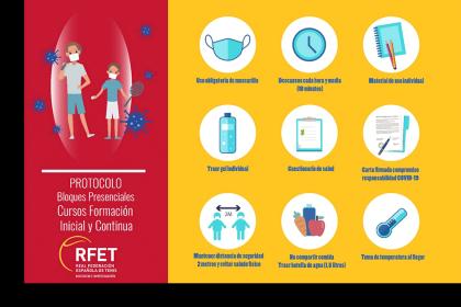 El Área de Docencia e Investigación de la RFET implementa un protocolo sanitario para las clases presenciales